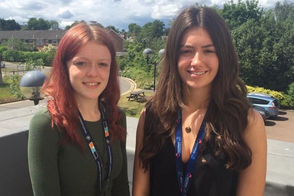 Teya and Katie, apprentices in NDORMS